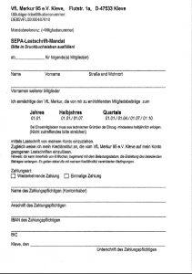 Sepa-Lastschrift-Mandat